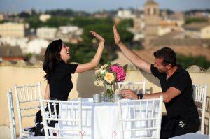 matrimonio sulla terrazza del donna camilla savelli a Roma zona Gianicolo